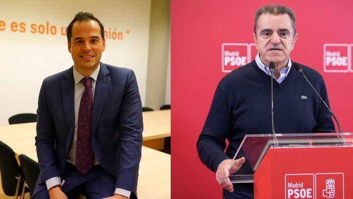 Ignacio Aguado (Ciudadanos) y José Manuel Franco (PSOE)