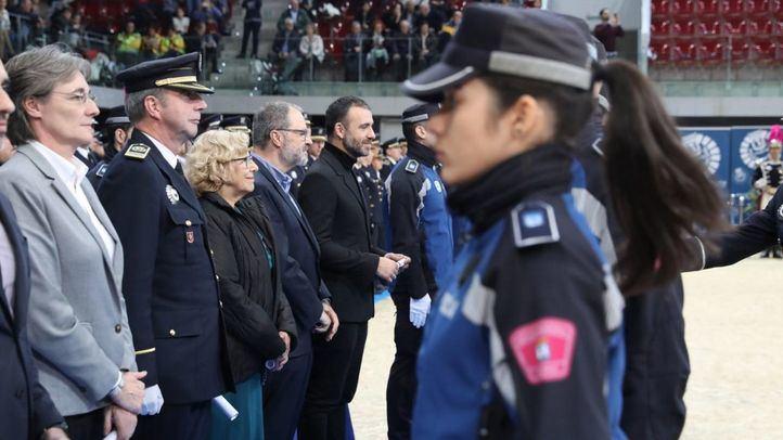 La alcaldesa de Madrid, Manuela Carmena, y el delegado de Seguridad y Emergencias, Javier Barbero.