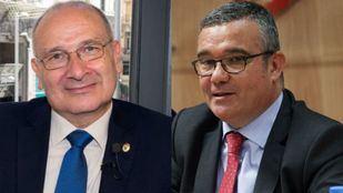 Los alcaldes Luis Marínez Hervás (Partido Popular) y Pedro Guillermo Hita Téllez (Partido Socialista Obrero Español)