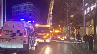 Intervenciones de los bomberos a causa del fuerte viento
