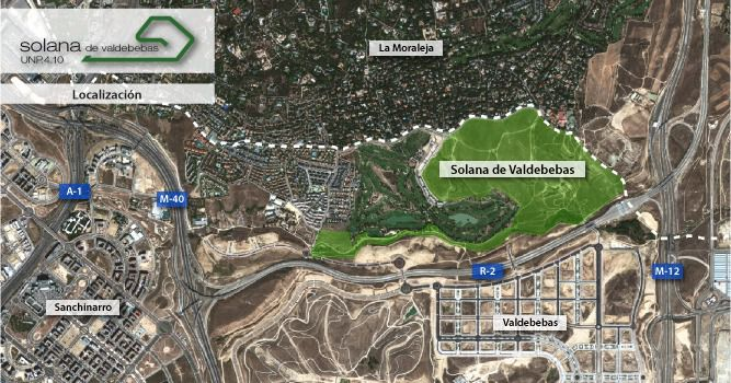 Mapa de la Solana de Valdebebas.