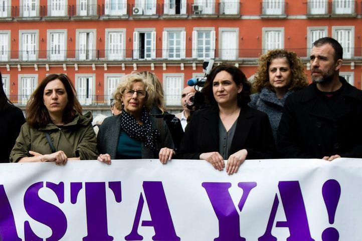 Celia Mayer, Manuela Carmena, Ada Colau y Nacho Murgui.