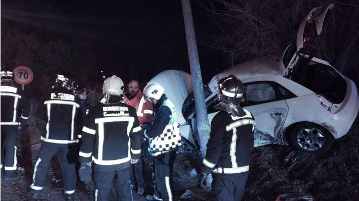 Accidente en la M-503 a la altura de Pozuelo de Alarcón.