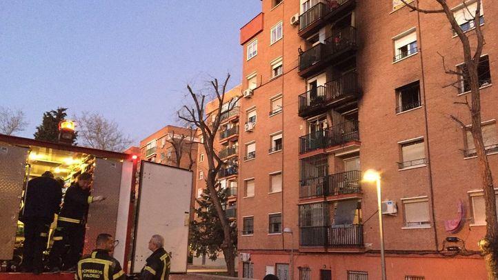 Un incendio en Vallecas se salda con un muerto y tres heridos