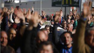 Protestas de los taxistas en los alrededores del Recinto Ferial IFEMA