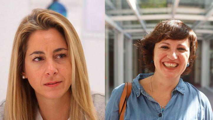 Las diputadas Nadia Álvarez (PP) y Elena Sevillano (Podemos)