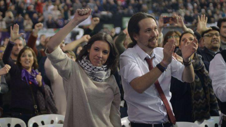 Pablo Iglesias e Irene Montero, en un acto de Podemos. (Imagen de archivo)