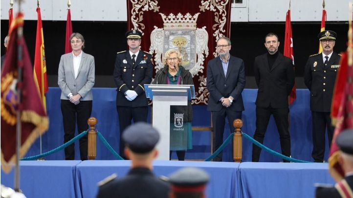 Marta Higueras, Teodoro Pérez, Manuela Carmena, Javier Barbero y Nacho Murgui.