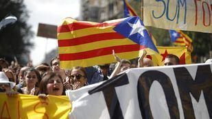 Manifestaciones en Cataluña por el primer aniversario del 1-O