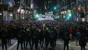Los taxistas alcanzan el 12º día de huelga con nuevas protestas en Sol y Gran Vía.