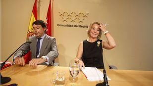 Los expresidentes de la Comunidad de Madrid Esperanza Aguirre e Ignacio González, en una imagen de archivo.