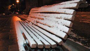 Nieve y frío en Madrid, foto de archivo.