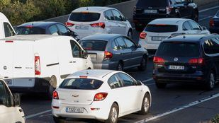 Gran acumulación de tráfico rodado.