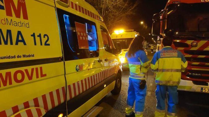 Diez personas han tenido que ser atendidas en un incendio en Leganés.