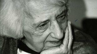 La filósofa María Zambrano, en torno al año 1987.