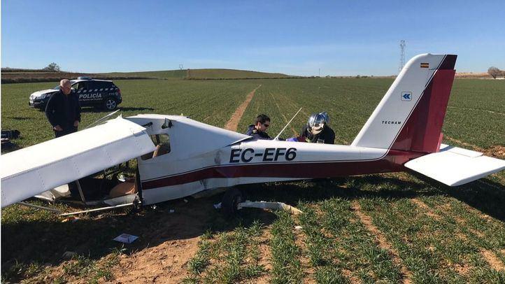 Dos heridos graves en el aterrizaje de emergencia de un ultraligero