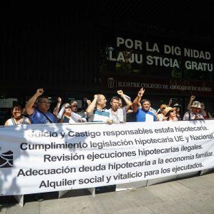 La Plataforma de Afectados por la Hipoteca (PAH) de Madrid lamenta que no se cuente con sus reclamaciones en la reunión de la Administración. (Imagen de archivo)