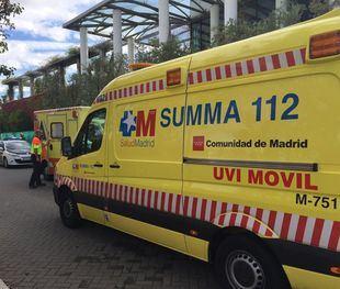 El Summa 112 en el lugar del accidente