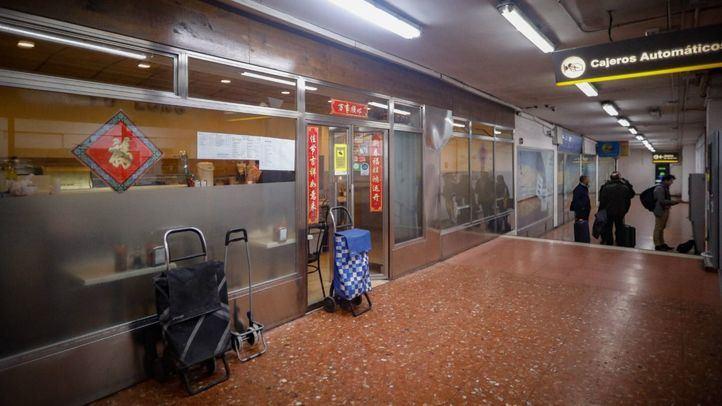 Restaurante chino en el aparcamiento de Plaza de España.