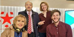 Javier García y Nuria Platón junto a Constantino Mediavilla y Nieves Herrero en Onda Madrid.