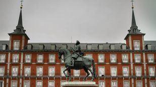 La Plaza Mayor de Madrid, uno de los puntos más visitados de la capital.
