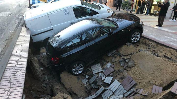 Reparada la tubería que provocó el socavón en Ciudad Lineal