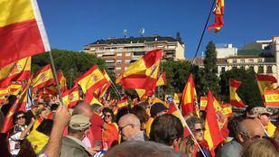 Manifestación por la unidad de España en Colón en octubre de 2017.
