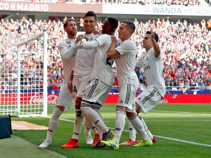 Casemiro, Ramos y Bale dan la victoria del derbi al Real Madrid
