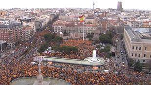 Manifestación en Colón 'Por una España unida'.