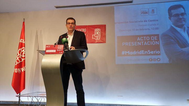 Chema Dávila presenta su candidatura a primarias del PSOE.