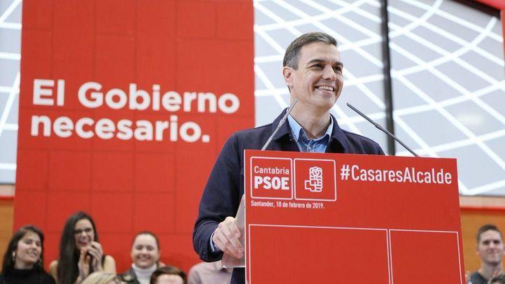 Pedro Sánchez en un acto en Santander.