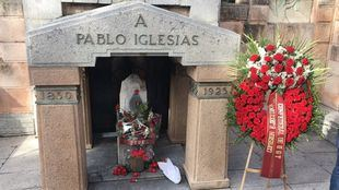 Tumba de Pablo Iglesias Posse.