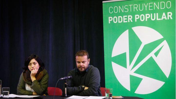 Rommy Arce y Raúl Camargo, portavoces de Anticapiltalistas, presentan la propuesta de confluencia en la izquierda para crear una lista alternativa a Más Madrid.