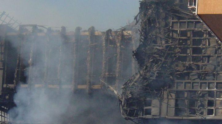 El edificio Windsor, al día siguiente del incendio