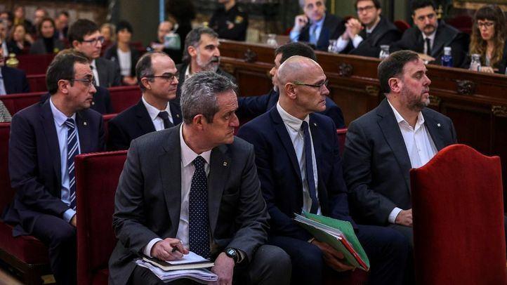Los acusados, en la segunda jornada del juicio por el procés catalán