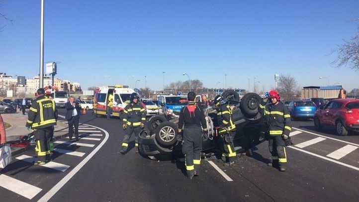 Tres heridos leves en un choque en Hortaleza y un alcance en Vallecas