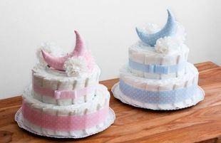 La tartas de pañales son  una manera muy original y moderna de dar la bienvenida a un bebé