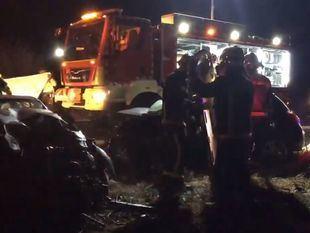 Fallecen tres personas por un choque frontolateral en Pozuelo del Rey