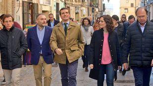 Pablo Casado junto a Martínez-Almeida, García Escudero y Díaz Ayuso.