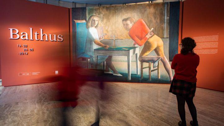 Una de las obras que forman parte de la exposición retrospectiva sobre el artistas francés Balthus.