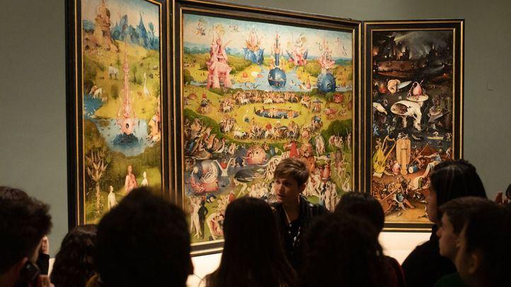 Sala 56 A, en la que se expone la obra del Bosco en el Museo del Prado.