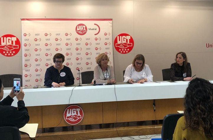 Presentación del informe 'Desigualdad Salarial Comunidad de Madrid' en la sede de UGT Madrid.