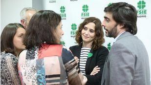 Díaz Ayuso en su reunión en FSIE.