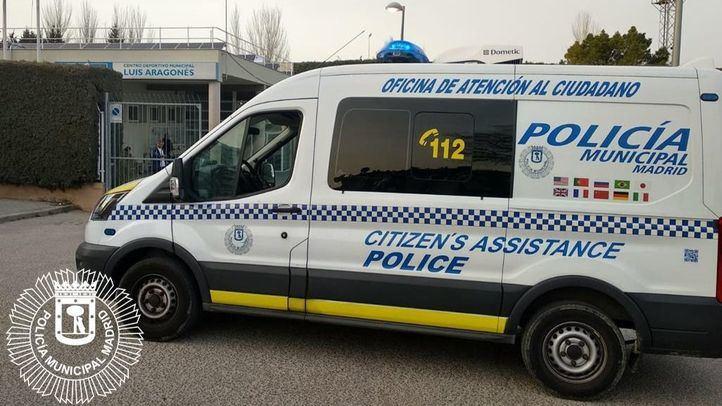Los agentes se personaron en el Polideportivo Luis Aragonés para realizar una investigación ante los avisos.