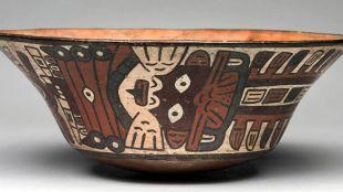 Una de las piezas de cerámica de la exposición 'Nasca. Buscando huellas en el desierto'.
