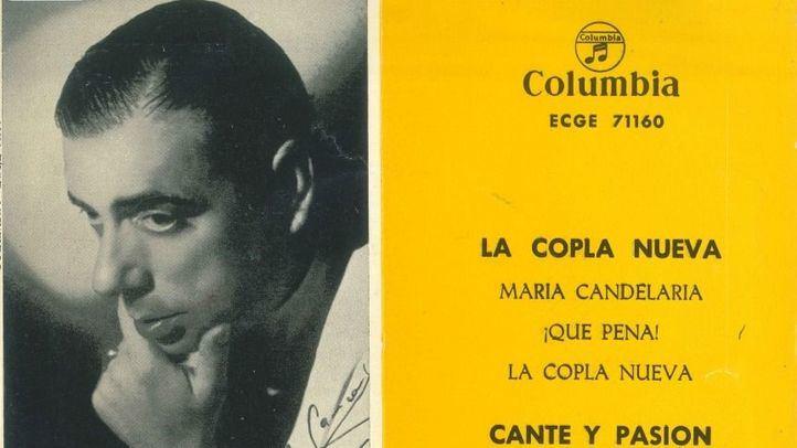 Portada de uno de los single de Manolo Caracol.