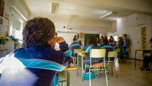 Alumnos del colegio de Educación especial María Corredentora de Madrid, en clase