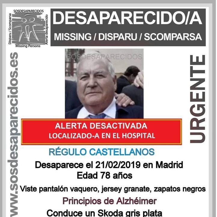 Localizado el hombre de 78 años con principio de Alzheimer desaparecido