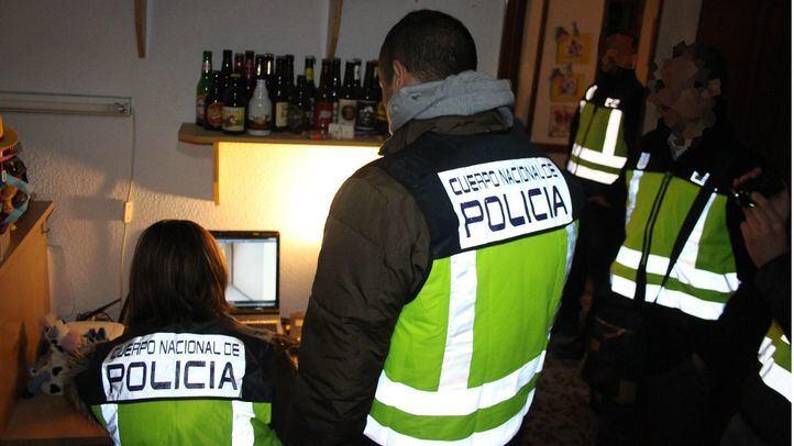 Redada de la Policía Nacional contra la  pornografía, en foto de archivo.