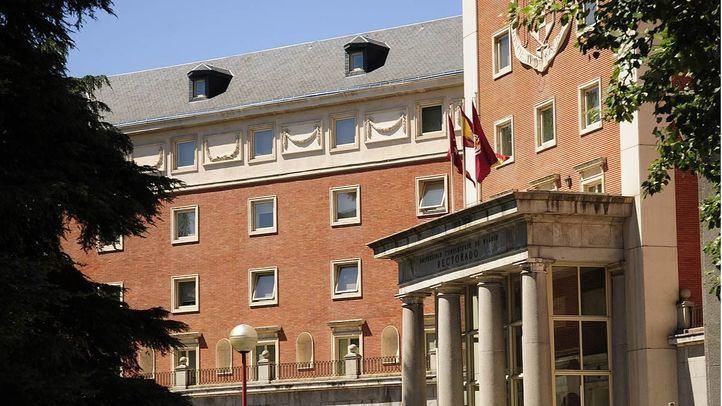 Entrada al Rectorado de la Universidad Complutense de Madrid.